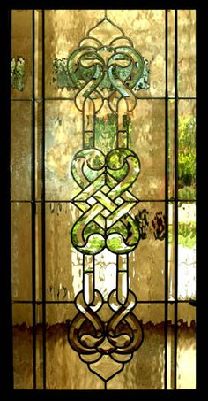 Celtic Stained Glass Window Panels