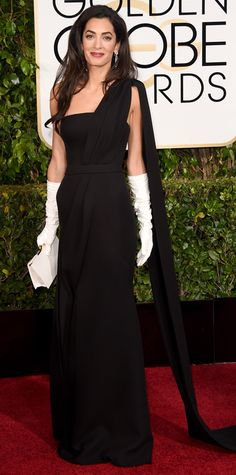 Golden Globes 2015: Red Carpet Arrivals - Amal Clooney in Dior and Harry Winston jewels.