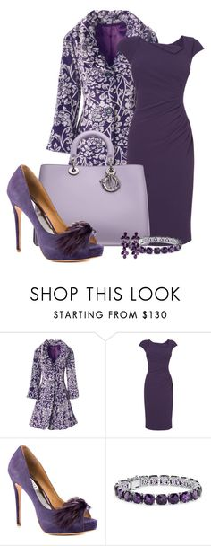 """Purple Hues"" by happygirljlc ❤ liked on Polyvore featuring ANGELINA, L.K.Bennett, Badgley Mischka, Blue Nile and Oscar de la Renta"