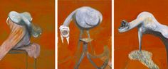 """Francis Bacon,  """"Three Studies for Figures at the Base of a Crucifixion"""",  c.1944"""