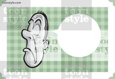 Greeting card with arrogant man face – place your custom text