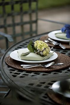 Lovely late summer table setting