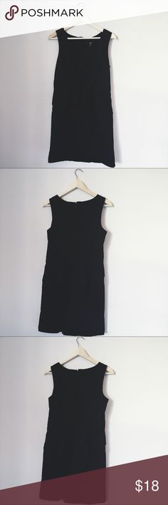 MOSSIMO BLACK DRESS WITH POCKETS SZ 12 BUST: 18 inches. LENGTH: 36 inches. Mossimo Supply Co Dresses