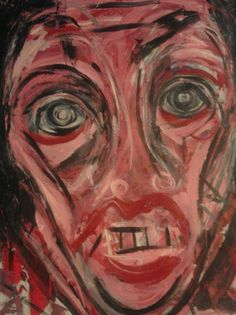 "Weary Man"" Original Oil Paint by Artist Ruth Clotworthy"