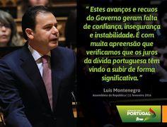Palavras de Luís Montenegro, Líder Parlamentar do PSD  #PSD #acimadetudoportugal