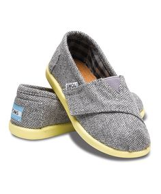 How cute !! Take a look at this Gray & Yellow Mini Herringbone Classics - Tiny on zulily today!