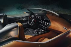 This is our first real glimpse at what BMW's new two-seater rear-wheel-drive drop-top will look like. Check out the photos for the 2018 BMW Roadster Bmw Z4 M, Bmw Isetta, Tuning Bmw, Bmw Z4 Roadster, Advertising Pictures, Automobile, Aircraft Interiors, Rear Wheel Drive, Design Language