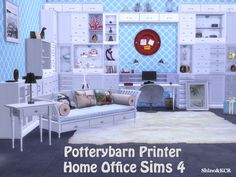 Potterybarn Homeoffice by ShinoKCR at -- select a Sites -- via Sims 4 Updates #Sims4 #Set #Downloaded