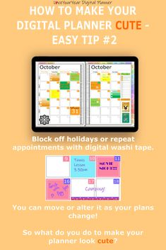 Make your digital planner look cute with 5 quick and easy tips - to help you get your stuff sorted. Water Intake Tracker, Tennis Lessons, Digital Journal, Planning And Organizing, Weekly Spread, Bullet Journal Layout, Important Dates, Planner Ideas, Android Apps