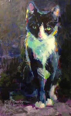"""""""Mum's Kitten"""" original fine art by Kimberly Santini"""