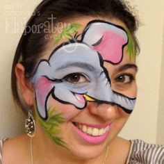 Cute Elephant Face Paint face painting ideas for kids