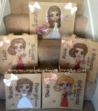 Stunning bridesmaids and bride personalised jute bags x