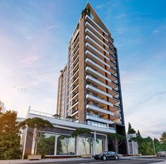 [P-385] - SunView  Projeto: Misto - Multifamiliar + Comercial Construtora: SunPrime Cidade: Itapema/SC Imagem: Fuel3D | Roof Top Skyscraper, Multi Story Building, Tower, Architecture, Ideas, Arquitetura, Log Projects, Skyscrapers, Rook
