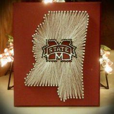 Custom Made State String Art. Mississippi String Art! Mississippi State