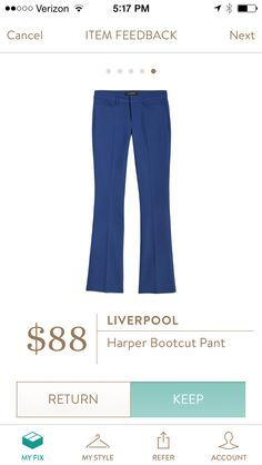Just bought the light gray ones off FB boards and love them!  Perfect fit :). Adore this color!!!!!  Would love to have this blue!!!!  Liverpool Harper Bootcut Pant