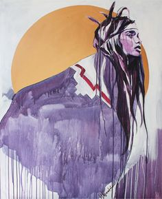 Hannah Adamaszek is an Artist in the UK inspired by people. Mediums include inks, acrylics and stencils, working in a street art style American Indian Art, Native American Art, Native Art, American Indians, Art And Illustration, Aztec Paintings, Art Magique, Indian Artwork, Aztec Culture