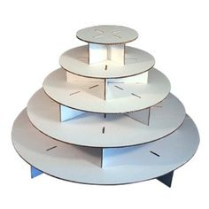 Cupcaketree Large Round for weddings. 5 tier-stand holds 300 cupcakes $41.95