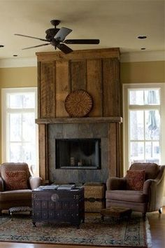 an option for covering the stone fireplace wall...plus the wall color