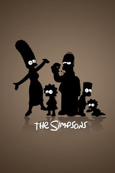 The Simpsons Silhouettes Android Wallpaper HD