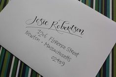 Would be cute in multiple colors: Calligraphy+&+Hand+Addressed+Envelopes+by+inkybug+on+Etsy,+$2.00