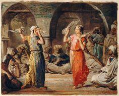 Les danseuses marocaine, La danse des mouchoirs, Théodore CHASSERIAU, musée du Louvre