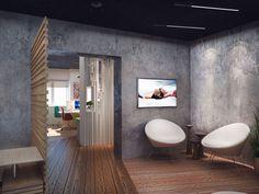 Декоративная штукатурка на стенах - Офис интерьер-салона Deco Room, ул. Николая Гондатти, 2/3 105 кв. м.