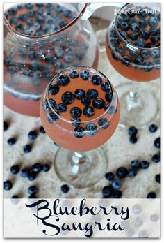 blueberry sangria - yum!