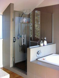 Shower & bath next to each other - another idea.