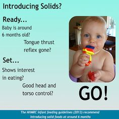 """Ramblings: Around six months  At five months of age, my granddaughter Charlie is now the only one of ten babies in her Mums Group not to have started solids.  This despite none of those babies yet reaching the """"around six months"""" age recommendation for doing so."""