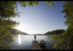 """Squam Lake  NH where they filmed the movie """"On Golden Pond"""""""