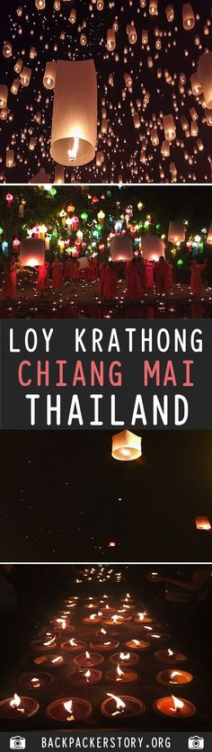 One of the most famous pictures you will see of Thailand is the photo of hundreds of lanterns. This is the Loy Krathong and Yi Peng festival which is widely Travel And Tourism, Asia Travel, Chiang Mai Thailand, Country Maps, Backpacking, Camping, Map Art, Thailand Travel, Holiday Travel