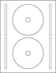 OL5625- 4.65 & quot;  Plantilla CD completo de la cara de etiqueta en blanco