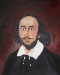 William Shakespeare - schilderij (portret) van Vlaams impressionistisch schilder Betty Bouckaert