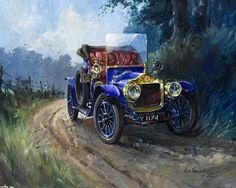 Descargar wallpaper coches de época, Alan Fearnley, Minerva 1600x1200