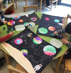 Encouraging your child with DIY solar system crafts, activities and decorations would be a great way to help them explore. With various grade and project on solar system for class here are some ideas. Space Crafts For Kids, Projects For Kids, Art For Kids, Outer Space Crafts, Solar System Art, Solar System Projects, Planets Activities, Space Activities, Toddler Crafts