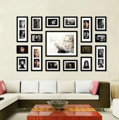 Photo wall template one of the best ive seen for the home wall collage frames google search photo wall collage family wall collage picture wall maxwellsz
