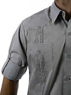 342eb05a26 Guayabera Shirt David in pima cotton   guayabera details   shirts with  pockets   Cotton Guayabera