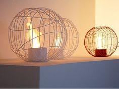 Nest: cheminée design au bi-éthanol à transporter où vous voulez ! à l'intérieur ou même en extérieur.
