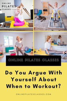 """How often do you think, """"OK, I really need to workout today."""" But then your morning comes and goes, you get busy with the afternoon, you're late eating lunch and then it's dinner time – and who wants to work out on a full stomach? If this is you, check out this video. #pilates #pilatesforbeginners #workout #workouttips #workoutroutine #fitness #pilatesclass #exercises Arm Toning Exercises, Fitness Exercises, Fitness Tips, Tone Arms Workout, Workout For Flat Stomach, Pilates Equipment, No Equipment Workout, Fit Board Workouts, At Home Workouts"""