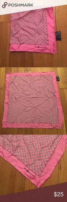 Polo Ralph Lauren Silk Pocket Square Polo Ralph Lauren 100% Silk Pocket Square. Pink floral pattern. Ralph Lauren Accessories Pocket Squares