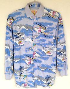 Vintage Gitano EJ Skiing Snow Bunny Shirt Ugly Sweater Winter Womens SZ L #Gitano #Outdoor