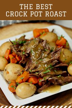 The Best Crock pot Roast Recipe - Easy Crock Pot Roast Recipe The Best Crock Pot Roast Recipe that you can make without seasoning packets. Try this easy and delicious Crock Pot roast with veggies that taste amazing! Roast Recipe Easy, Easy Pot Roast, Beef Pot Roast, Slow Cooker Roast, Crock Pot Slow Cooker, Crock Pot Cooking, Best Crockpot Roast, Healthy Pot Roast, Vitamins
