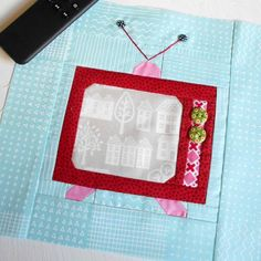 """Block 72- Vintage T.V.  This block is a free tutorial from """"Bee in my Bonnet"""" 5th June 2017."""