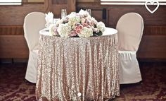 Sparkly Sequin Table Cloth Garden Wedding Party Wedding Decorations Round/Square Champagne Gold Silver Sequins Cake Table Cloth Custom Made Gold Wedding, Wedding Table, Dream Wedding, Wedding Day, Trendy Wedding, Wedding Cakes, Bridal Table, Civil Wedding, Gatsby Wedding