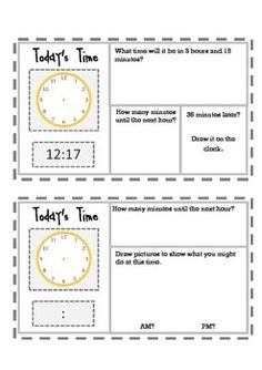 FREE ~Grade 3 Common Core - Elapsed Time~  Preview pack of 2. Great review for 3rd grade! Use for progress monitoring, remediation, weekly check-ups, quiz grades, morning work or homework! Twenty-six varied half sheets to choose from make it easy to differentiate.