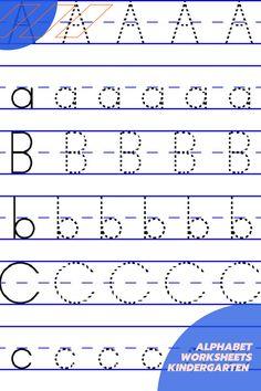 FREE Alphabet Worksheets – Kindergarten Worksheets and Games
