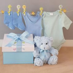 "One of our most popular and one of our longest running baby boy gift hampers is our ""one little bear in a box"" this cute little baby boy gift box has been with us since the beginning and is still one of our most popular baby boy gift boxes. Cute Little Baby, Little Babies, Baby Gift Hampers, Baby Suit, Unique Baby Shower Gifts, Baby Boy Gifts, Baby Socks, Beautiful Gifts, Gift Boxes"