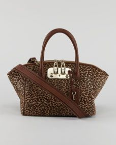 VBH Brera Leopard-Print Satchel Bag -- and I'll shoot this link right on over to my <3 hunny bunny...