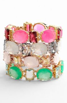 The ultimate candy-colored stacked wrist.