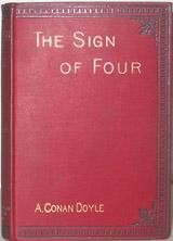 "The Sign of Four  The story is set in 1888. The Sign of the Four has a complex plot involving service in East India Company, India, the Indian Rebellion of 1857, a stolen treasure, and a secret pact among four convicts (""the Four"" of the title) and two corrupt prison guards. It presents the detective's drug habit and humanizes him in a way that had not been done in A Study in Scarlet. It also introduces Doctor Watson's future wife, Mary Morstan."